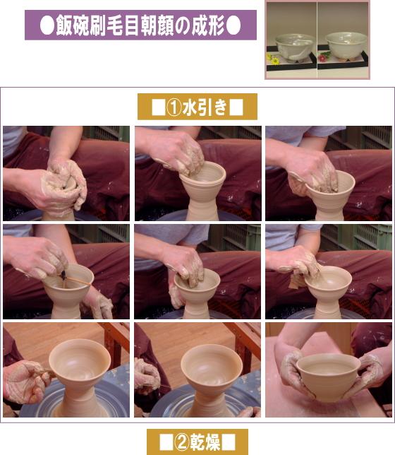 樋口大桂の作陶-飯碗1